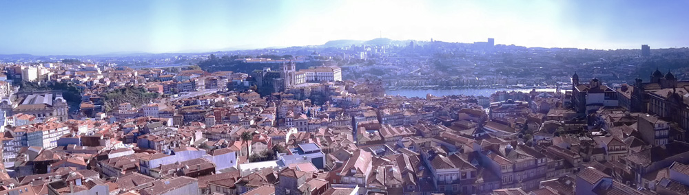 Clerigos Tower - Panoramic View - Porto - Portugal