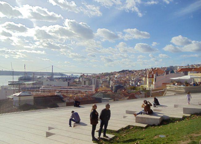 Miradouro de Santa Catarina scenic lookout Lisbon