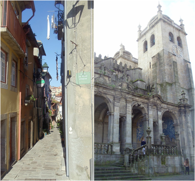 Narrow alleys and Se Cathedral - Porto - Portugal