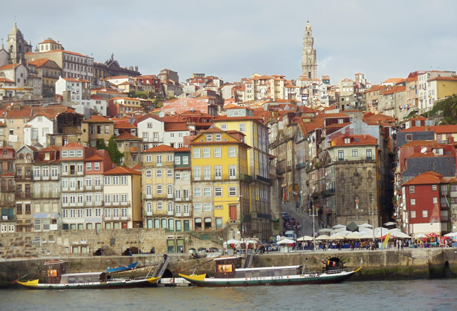 Porto Skyline - view from Vila Nova de Gaia - Portugal
