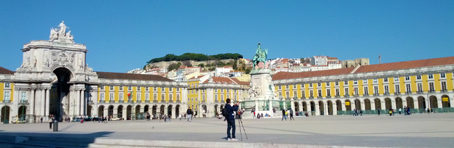 Praca do Comercio - Lisbon Portugal - panoramic view