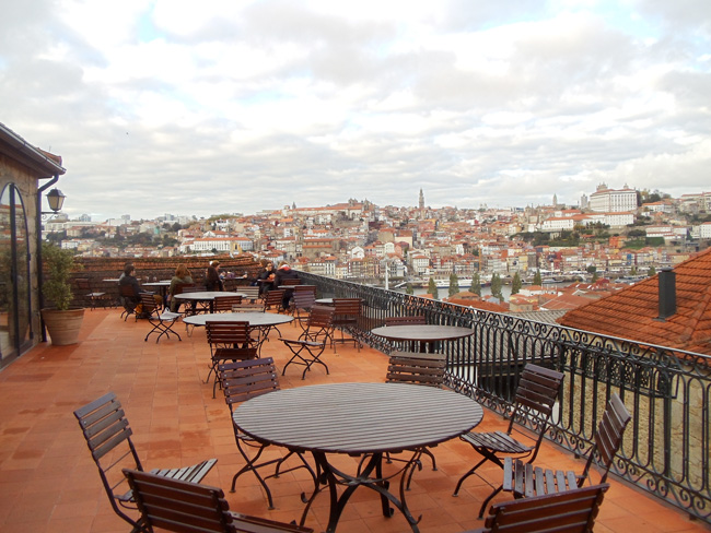 Terrace of Taylors Winery - Porto - Portugal