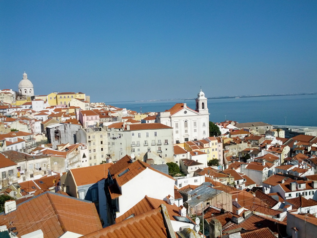 View of Alfama from Miradouro de Santa Luzia - Lisbon Portugal