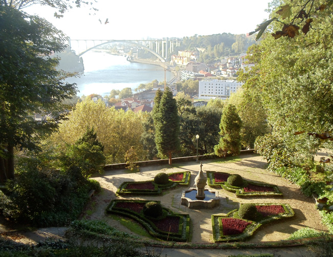 View of Douro River from Jardim do Palácio de Cristal - Porto - Portugal