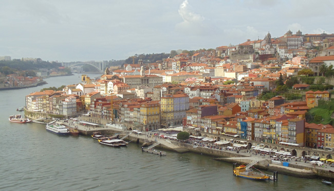 View of Ribeira from Ponte Dom Luis I - Porto - Portugal