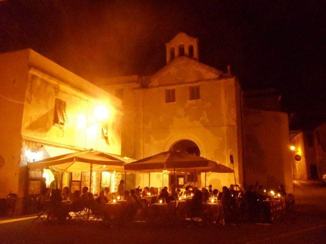 Alghero piazza at night - Sardinia