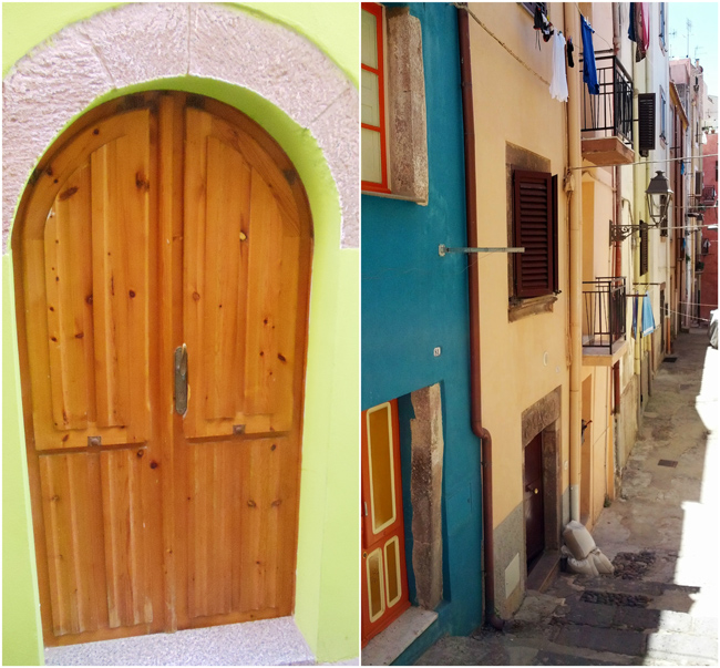 Bosa - Sardinia - door and alley