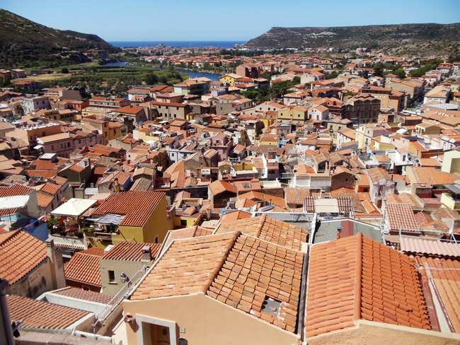 Bosa - Sardinia - view from castle