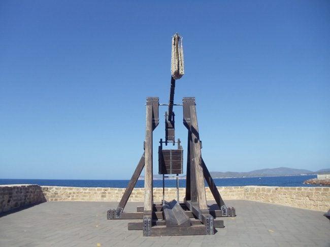 Catapult - Alghero ramparts - Sardinia