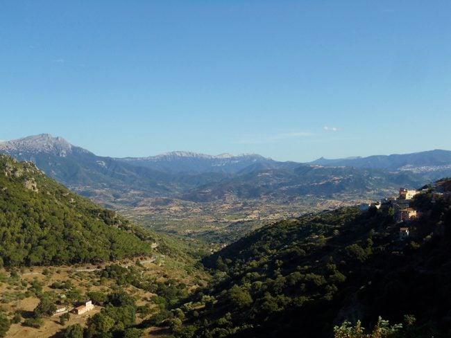 View from Nuoro to Supramonte Mountain Range - Sardinia