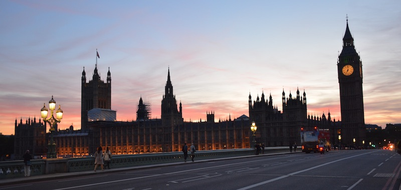 Big Ben at sunset - London panoramic view