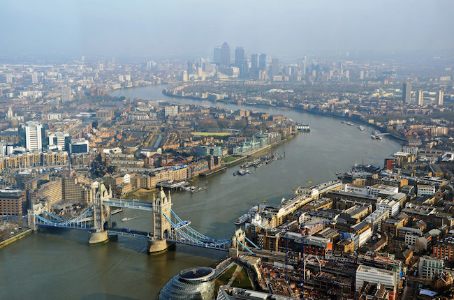 Panoramic View of London from Shard Tower by Dun.can