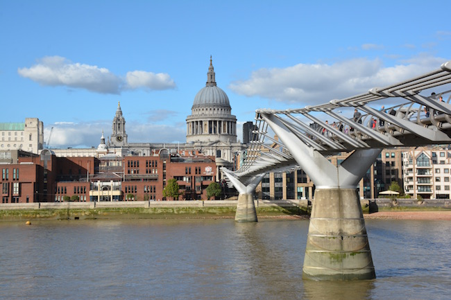 St Paul's Cathedral London from Millenium Bridge