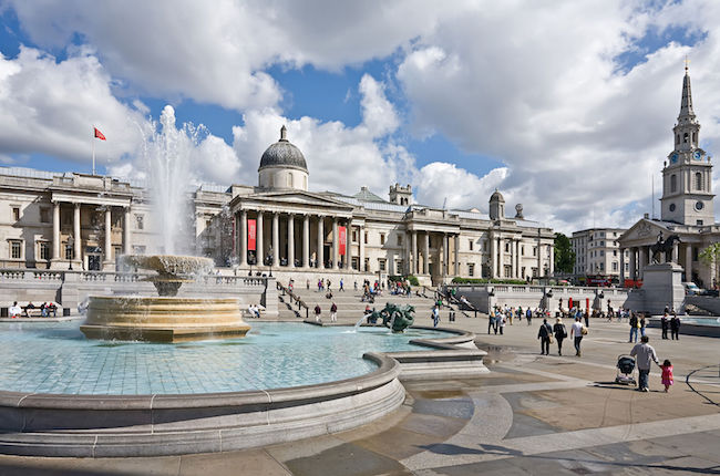 Trafalgar Square London - Photo by DAVID ILIFF. License: CC-BY-SA 3.0