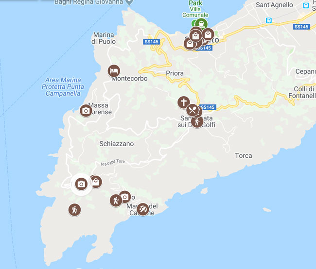 2 days in Sorrento map