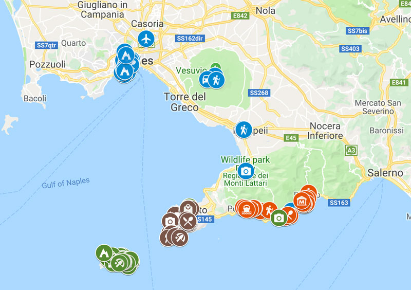 7-Days-in-Naples-and-the-Amalfi-Coast-Map