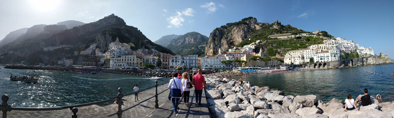 Amalfi panoramic view