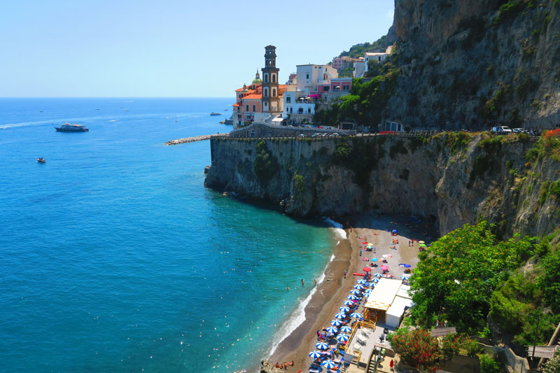 Beach near Atrani Amalfi Coast