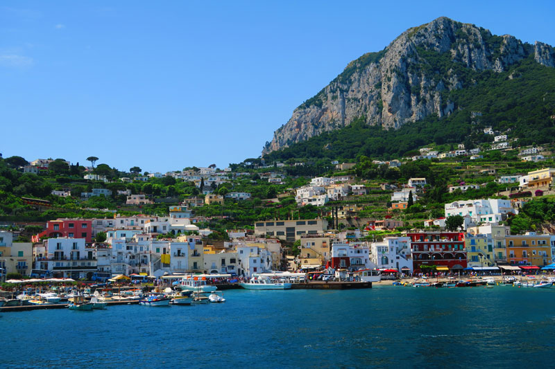 Capri Town from ferry