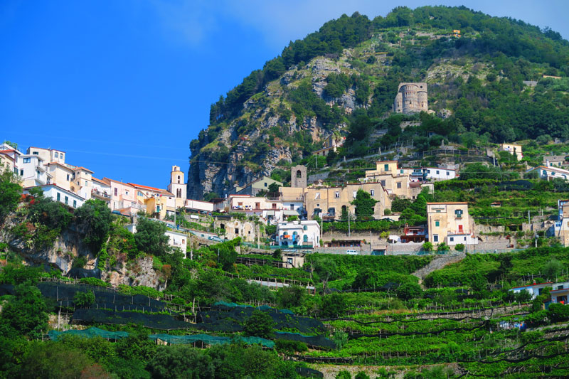 Drive to Ravello from Amalfi - hilltop village