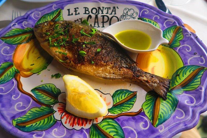 Le Bonta del Capo - best restaurant Amalfi - fish