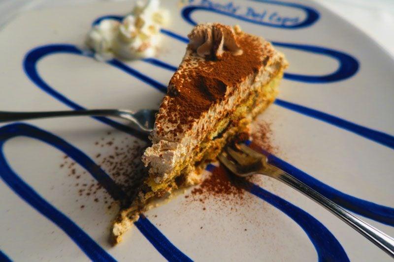 Le Bonta del Capo - best restaurant Amalfi - tiramisu