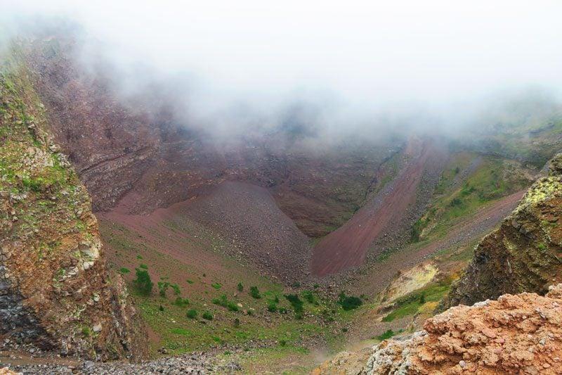 Mount Vesuvius volcano crater rim