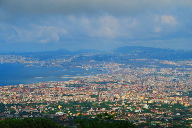 Naples Bay from Mount Vesuvius
