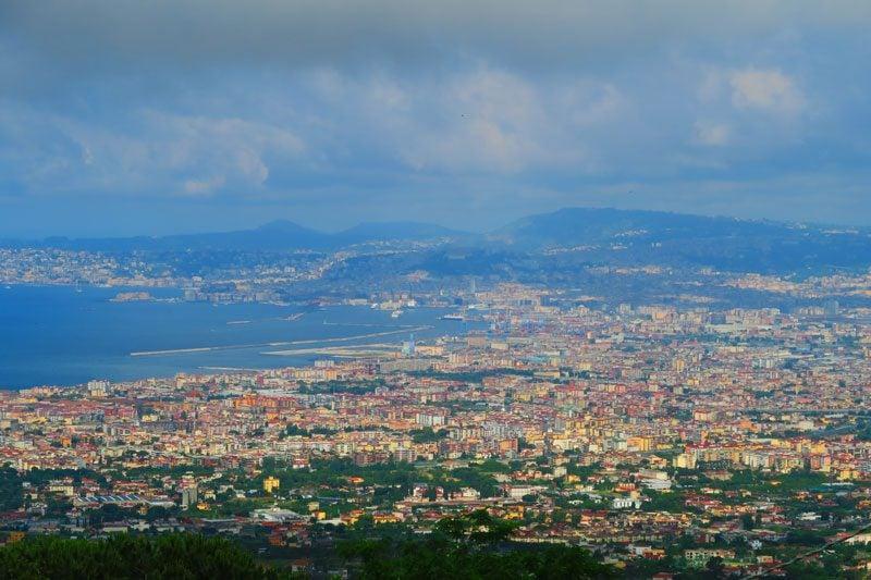 Naples Bay from Mount Vesuvius