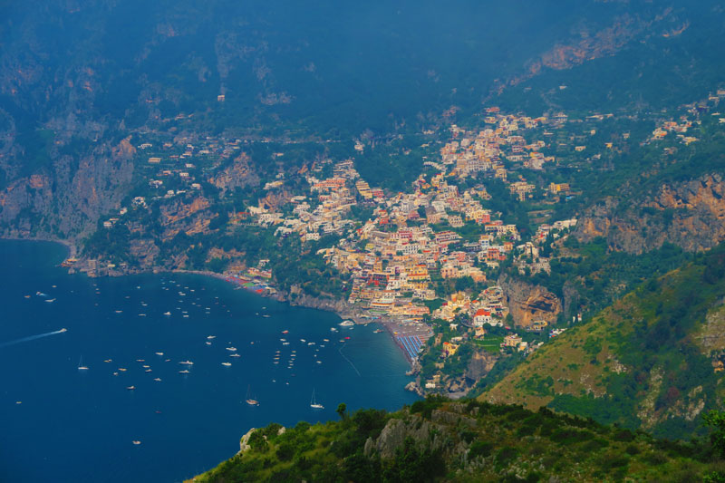 Path of the Gods Hike - Amalfi Coast - view of Positano
