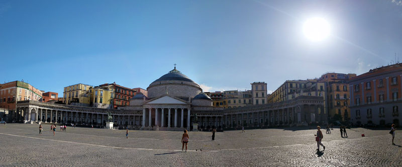 Piazza Del Plebiscito Naples - Panoramic View