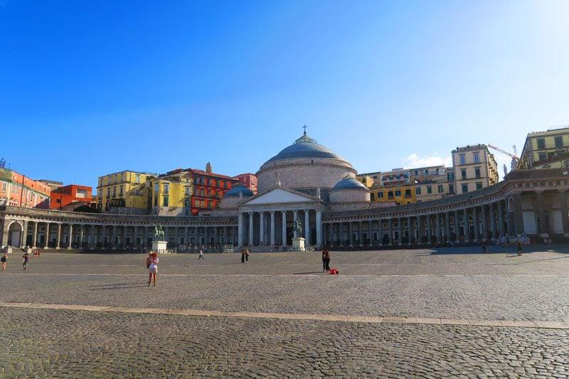Piazza Del Plebiscito Naples main square
