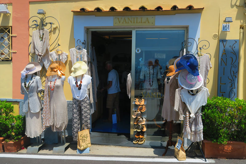 Positano boutique shop