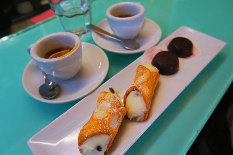 Scaturchio famous chocolate pastry shop cafe in Naples