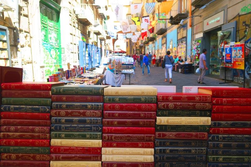 Via Port'Alba library street in Naples