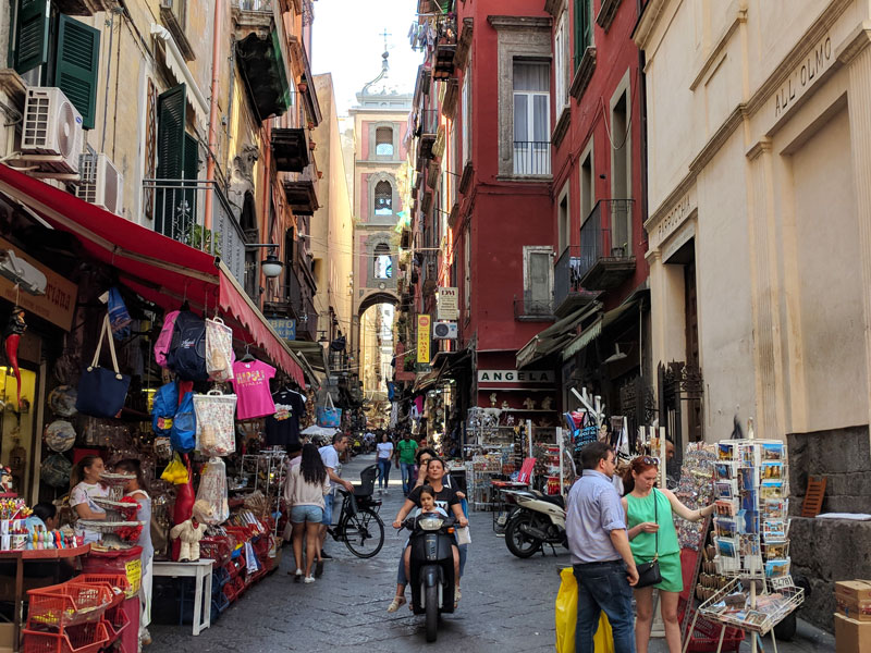 Via San Gregorio Armeno naples old city - christmas street