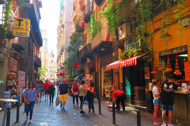 Via dei Tribunali Naples historic center
