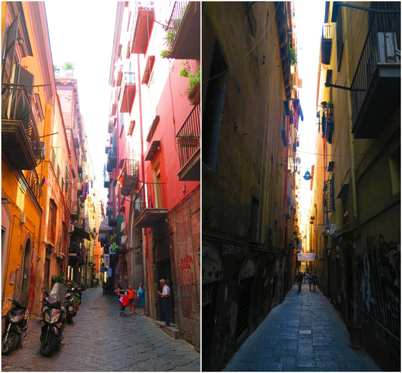 Via dei Tribunali Naples narrow alleys in historic center