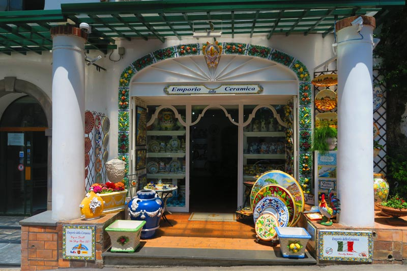ceramic shop in Positano