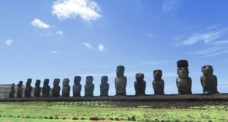 Ahu Tongariki temple Easter Island Rapa Nui