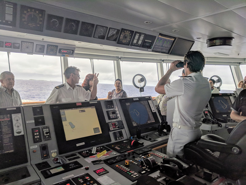 Captain bridge laustral ponant cruise