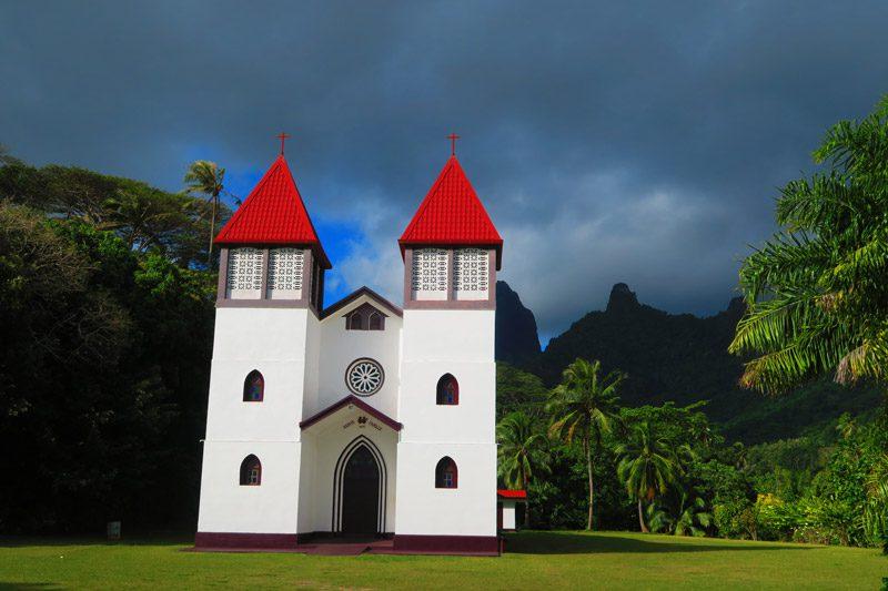 Catholic church in Haapiti Moorea French Polynesia