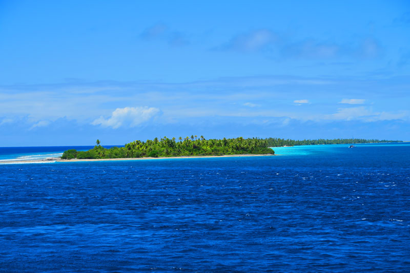 Fakarava entering north pass French Polynesia