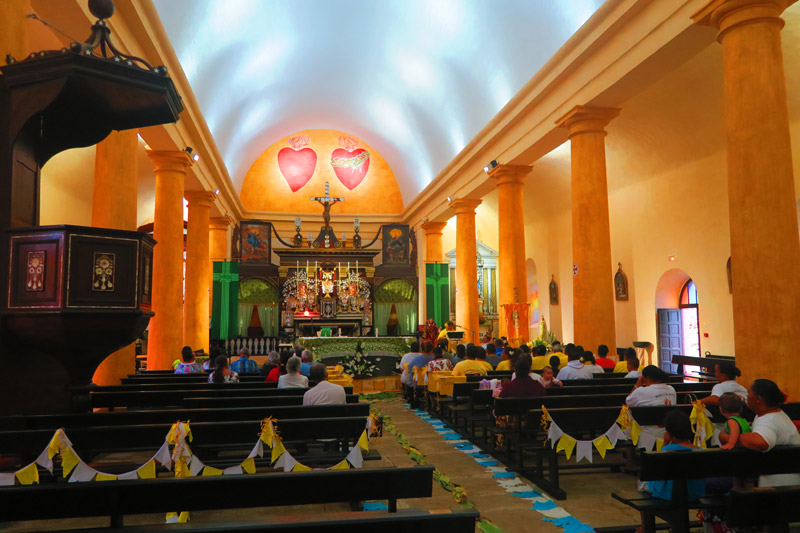 Interior of St Michaels Cathedral - Rikitea Mangareva - Gambier Islands - French Polyensia