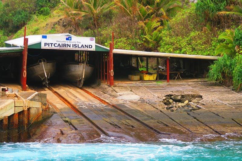 Longboat shed in - Pitcairn Island