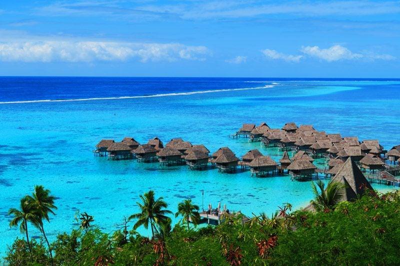 Overwater bungalows Sofitel Moorea French Polynesia