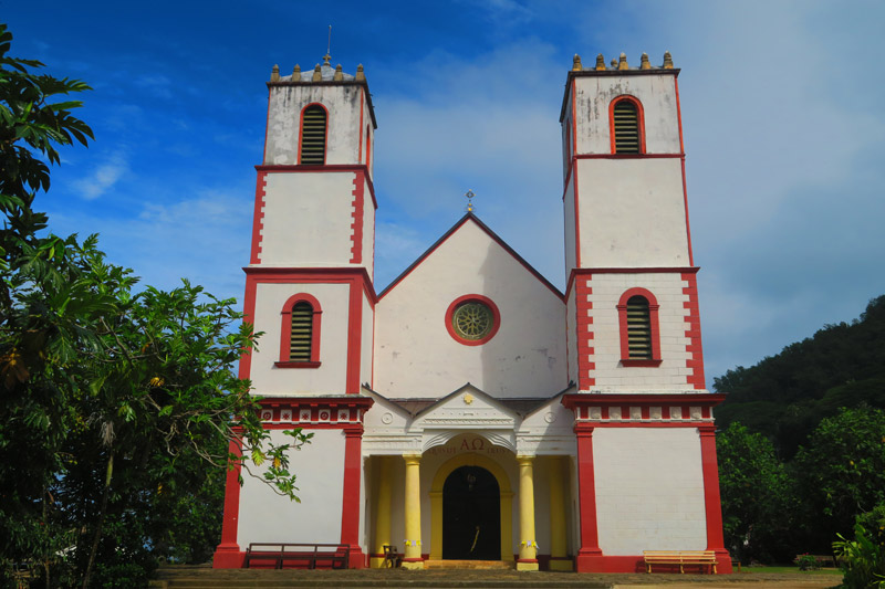 St Michaels Cathedral - Rikitea Mangareva - Gambier Islands - French Polyensia