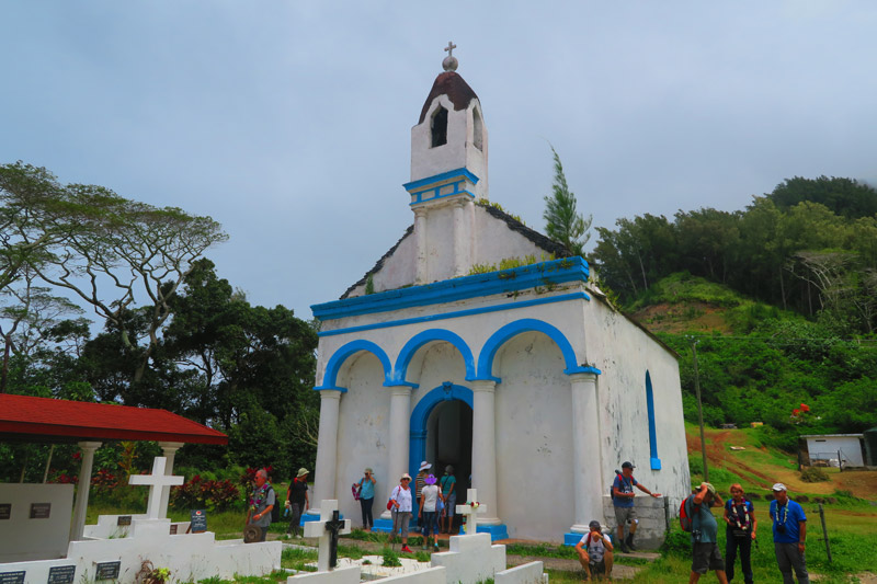 St Pierre Chapel - tomb of MAPUTEOA - Rikitea Mangareva - Gambier Islands - French Polyensia