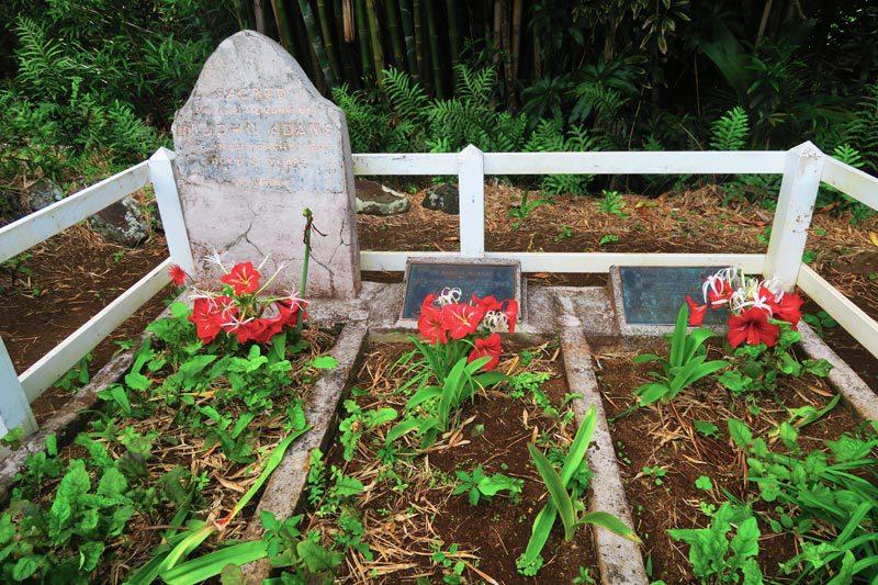 John Adams Grave Pitcairn Island
