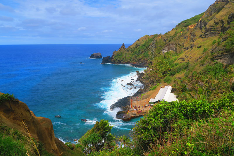 Pitcairn Island landing area - The Edge